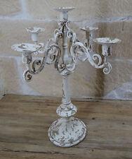 Kerzenständer shabby Kerzenhalter Kronleuchter Leuchter Vintage Landhaus 1134