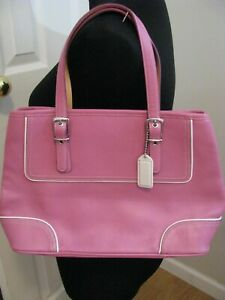 Womens COACH Light Fuschia Pink Leather Satchel Handbag NWOT