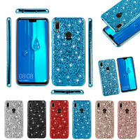 For Huawei Y6s Y6 2019 Phone Case Bling Glitter TPU Shockproof Phone Cover Shell