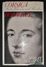 CORSICA BOSWELL by MORAY McLAREN-SECKER & WARBURG-H/B D/W-£3.25 UK POST