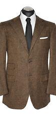 Raffaele Caruso / Unützer chaqueta marrón de lana de Cachemira 52 gr. como nuevo lujo