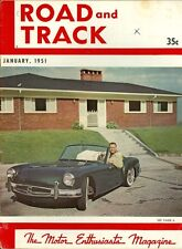 1951 Road & Track Magazine: Story Sports Car/Tom Story