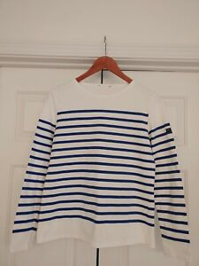 most sizes! Navy /& Cream Breton Shirt /' Guildo/' by Saint James – 100/% Cotton
