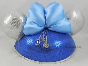 New Disney Disneyland 60th Anniversary D60 Minnie Mouse Sequined Ear Hat Charms