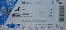 TICKET 21.2.2014 Olympia Sochi Curling Men's Final Großbritannien - Canada K82