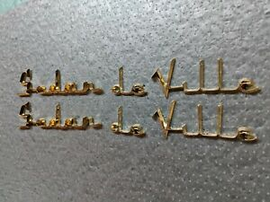 CADILLAC 1956 sedan DeVille scripts 18 karat gold latters