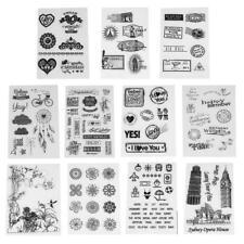 Прозрачный штамп самодельный силиконовый печать скрапбукинг карта подарок альбом фото игрушка