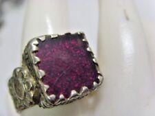 antique Nomads tribal purple royalty glitter ring 10 size ethnic dagestan 50220