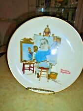 """Norman Rockwell """"Triple Self Portrait"""" Saturday Evening Post Cover 10 1/2"""" Plate"""