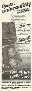 W2581 Rolleiflex - Rolleicord - Ing. Ippolito - Advertising Of 1935 - Old Advert