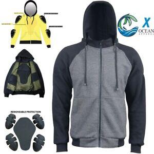 X-Ocean Motorcycle Motorbike Biker Hoodie Jacket Lined with Kevlar ® CE Armour