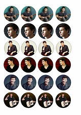 24 Shawn Mendes Wafer / Rice Paper Cupcake Topper Edible Fairy Cake Bun Toppers