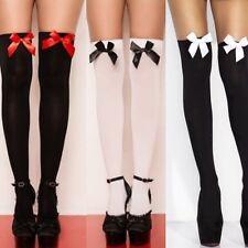 Neu Damen Sexy halterlose Strümpfe mit Schleife 8 Farben Kniestrümpfe Socken
