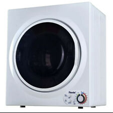Panda 3.5 cu. ft. Compact Electric Dryer in White and Black, Bottom Control