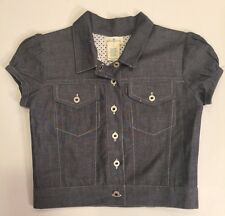 NWT Girl's OLIVE JUICE Blue Chambray Jumper Dress & Jacket Size 4 Retro Outfit