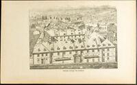 1892 - Gravure Collège Saint-Charles-Garnier: Ancien collège de Québec - Canada