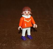 Playmobil vie quotidienne enfant fillette robe orange 3950 4150