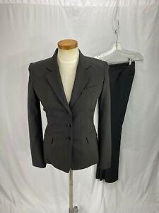 Tahari Women's Brown Pinstripe Pant Suit 2