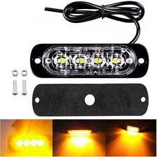 1 X 12V- 24V Amber 4 LED Bar Car Truck Strobe Emergency Warning Light Lamp 2019