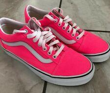 Vans Brand New Old Skool Women's Skate Shoes Neon Pink Sneakers Size 9