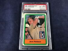 N3-84 GOLF CARD - JACK NICKLAUS ROOKIE CARD #13 - 1981 PGA TOUR - GRADE 8