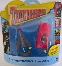 ~ Thunderbirds T1 & Fab 2004 40th TALKING ROCKET VEHICLES ORIGINAL 64 TM DESIGN