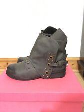 Grey Ankle Boots Biker Style Studded Size 39 EU 5.5 - 6 UK