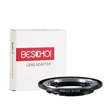 Beschoi Lens Mount Adapter Nikon Nikkor F AI Lens to Canon EOS EF EF-S Camera