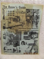 1984 Buyers Guide for Black-Owned Businesses & Organizations Evansville IN Area