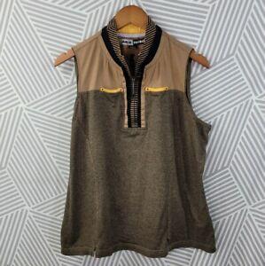 Jamie Sadock Golf Top Size XL Sleeveless Multicolor Cotton Sport sleeveless