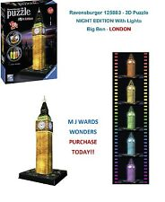 Ravensburger 125883 - 3D Puzzle - NIGHT EDITION With Lights - Big Ben - London