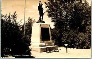 "Rock Springs, Wyoming RPPC Photo Postcard ""Dough Boy Monument, Bunning Park"""