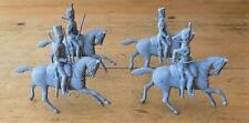 4 Unpainted Britains Lead Mounted Soldiers
