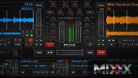 Mixx 2019 4 Deck Dj Software MIdi Controller and Itunes compatible like Serato