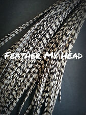 25 Pc Grizzly  Feathers For Hair Extensions And Fly Tying 7 to 9 Inch (18-23cm)