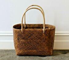 Basket, handwoven, bamboo, brown, shopping, storage, decorative, decor