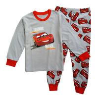 Baby Kinder Langarm Pyjama Set Junge McQueen Schlafanzug Nachtwäsche Outfits