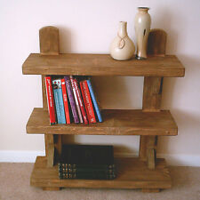 Hand Made Rustic Shelving Unit - Stained in medium jacobean oak