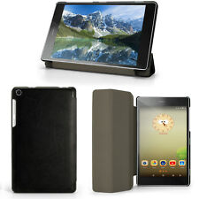 "Black PU Leather Smart Case for Lenovo Tab 3 7"" Essential Cover + Screen Protect"