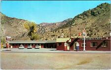 CIMMARON, CO Colorado   CURECANTI  MOTEL CAFE & GAS c1950s   Cars  Roadside