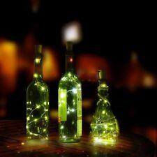 Cork Shaped Romantic Night Starry Light String Wine Bottle LED Lamp Xmas Decor White