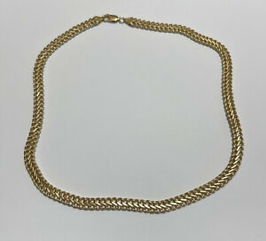 9ct Gold 7Mmm Figure Of Eight Curb Chain Necklace 11.9g