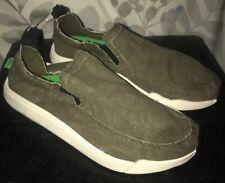 New Sanuk Unisex Chiba Quest Canvas Shoes Loafers Slip On Sz Men 6 Women 7 Olive