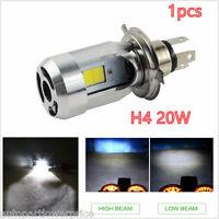 H4 1pc Bright White 20w COB LED Hi/Lo Beam Motorcycle Headlight Front Light Lamp