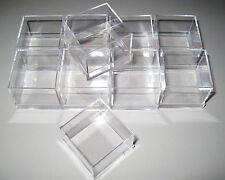 10 Stück Micromount Dosen KLAR für Mineralien / Kleinstufen / MM- Kästchen Stufe