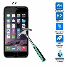 2 x iPhone 4 4S Crystal chiaro Vetro temperato salvaschermo Bundle