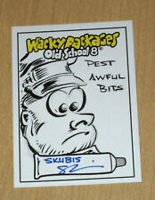 2019 Topps Wacky Packages Old School 8 1/1 sketch Skubis PEST AWFUL BITS
