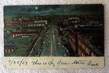 1907 POSTCARD BIRDS EYE VIEW OF MAIN STREET FORT WORTH TEXAS #kq99