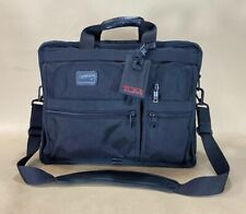 "Preowned TUMI 17"" Large Briefcase Laptop Bag Ballistic Nylon Black 2624D3"