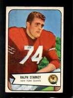 1954 BOWMAN #67 RALPH STARKEY VG NY GIANTS *SBA4999